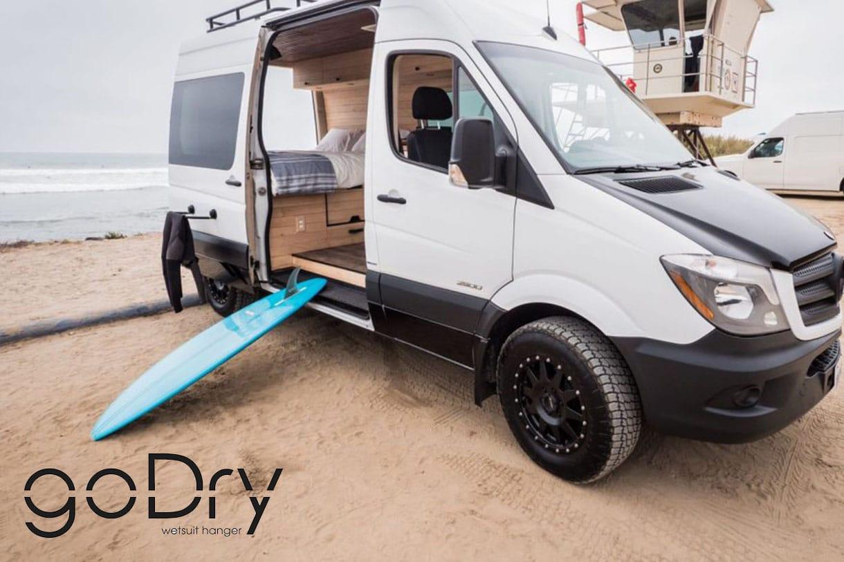 sèche linge universel à ventouses pour vans et véhicules de loisirs